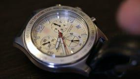 Wrist Watch. The man wears a wrist watch stock video