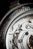 Wrist watch mechanism Stock Image