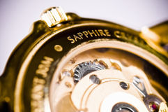 Wrist watch, mechanism Stock Photo