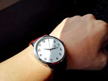 Wrist Watch On Hand Stock Images
