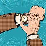 Wrist watch retro pop art Royalty Free Stock Image