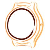 Wrist watch with round empty dial, without strap royalty free illustration