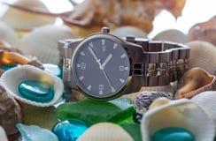 Wrist Watch. seashell Stock Photo