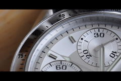 Wrist watch ticking second hand stock footage