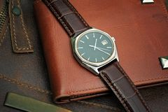 Wrist watch, vintage style. Royalty Free Stock Images
