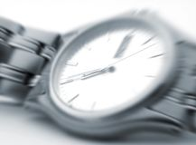Wrist watch zoom Royalty Free Stock Photos