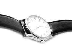 Wrist watches with a black small strap Royalty Free Stock Photography
