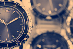 Wrist watches with a retro effect.  royalty free stock photo