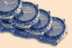 Wrist watches with a retro effect Royalty Free Stock Photo