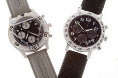 Wrist watches with several dials Royalty Free Stock Photos
