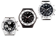 Wrist watches with several dials Stock Images