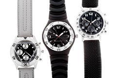 Wrist watches with several dials Royalty Free Stock Photo