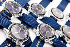 Ranks of a man's watch Royalty Free Stock Images