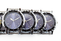 Wrist watches. Still-life on a white background stock photography