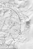 Wrist watches white texture stylization Stock Images