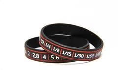 Wristband speed shutter aperture Stock Image