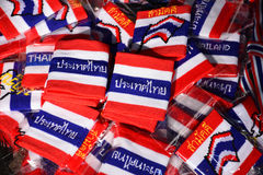 Wristband in thai flag pattern Royalty Free Stock Photo