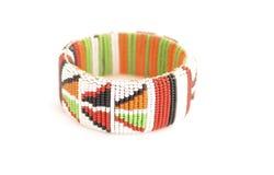 Wristband tradizionale del Masai Fotografie Stock