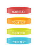 Wristbands set isolated Royalty Free Stock Photos