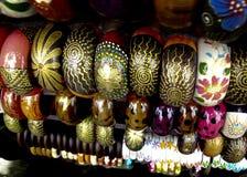 Wristlet. Art Wristlet Hang on Display. vivid Color Paint. Fine Pattern Royalty Free Stock Photo