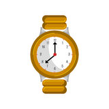 Wristlet watch isolated icon Stock Photography