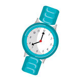 Wristlet watch isolated icon Royalty Free Stock Photos