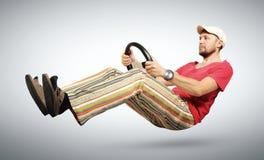 wristwatch водителя автомобиля смешной юмористический нереальный Стоковые Изображения