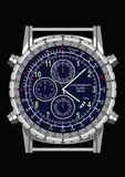 Wristwatch. Isolated on black background fully layered Royalty Free Illustration