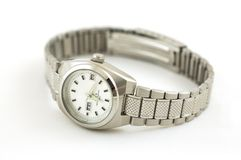 Wristwatch. Wrist watch on a white background stock photography