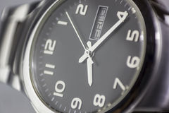 Wristwatch background with Friday thirteenth concept Royalty Free Stock Photography