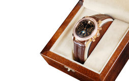 Wristwatch in box Stock Image