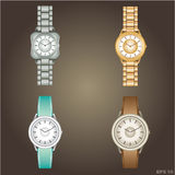 Wristwatch with bracelet Royalty Free Stock Image