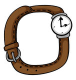 Wristwatch with brown band Stock Images
