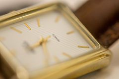 Wristwatch Closeup. Macro photography of a wristwatch Royalty Free Stock Photography