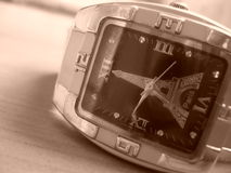 Wristwatch closeup Royalty Free Stock Photo
