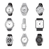 Wristwatch Elegant Collection Royalty Free Stock Images