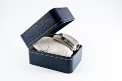 Wristwatch in an elegant gift box Royalty Free Stock Photo