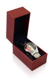 Wristwatch with Gift Box Royalty Free Stock Image