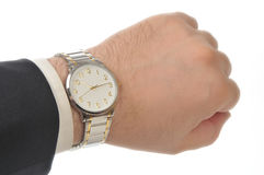 Wristwatch on hand Stock Photography