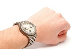 Wristwatch on the hand Stock Photos