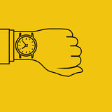 Wristwatch on hand, minimal Stock Photography