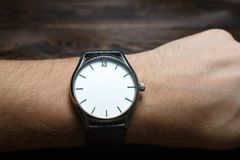 Wristwatch without hands. Amazing watch royalty free stock images