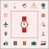 Wristwatch icon symbol . Elements for your design royalty free illustration