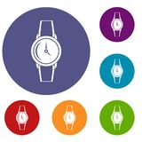Wristwatch icons set Stock Photo