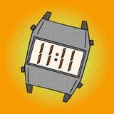 Wristwatch pop art vector illustration Royalty Free Stock Photo