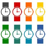 Wristwatch vector icons set Stock Image