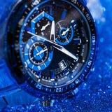 Wristwatch w zakończeniu up zdjęcia royalty free