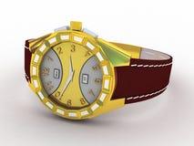 Wristwatch  on white Stock Image