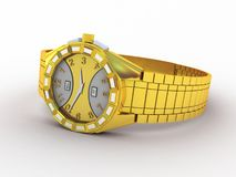 Wristwatch  on white Royalty Free Stock Images