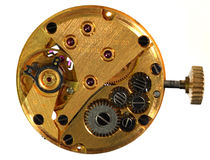 Wristwatch workings Stock Images